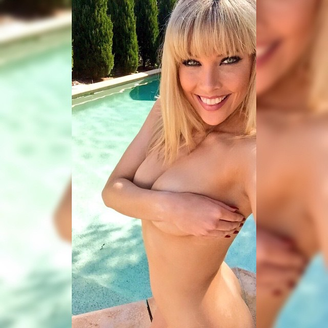 Rebekah Cotton handbra busty blonde