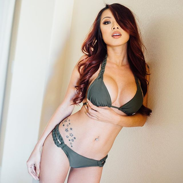 Jenn Q busty asian model